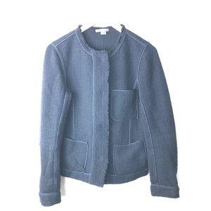 Vince tweed blazer navy blue zip up jacket 6
